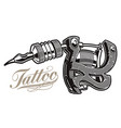 a tattoo machine on a white background all items vector image