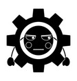 Angry gear kawaii icon image