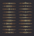 art deco dividers lines shapes decorative borders vector image