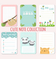 baby shower invitations cards note list vector image vector image