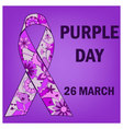 Background-purple-day vector image vector image