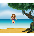 Beach Bikini Girl vector image