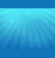 beautiful background under water the blue sea and vector image vector image