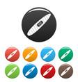 big cigar icons set color vector image vector image