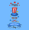 blue background card independence day style vector image vector image