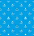 bulb pattern seamless blue vector image