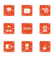 business store icons set grunge style vector image vector image