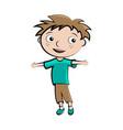 cartoon child happy boy avatar vector image vector image