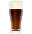 Dark beer in glass vector image vector image