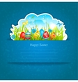 Easter blue background vector image