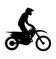 enduro athlete on bike rides vector image