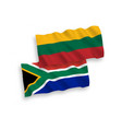 flags lithuania and republic south africa on vector image vector image