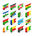 flags of the world africa set 3 vector image vector image