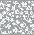 floral leaves seamless pattern graden lush leaf vector image vector image