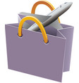 flying object in shop bag-09 vector image vector image
