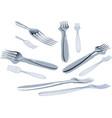 fork set vector image vector image