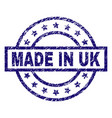 grunge textured made in uk stamp seal vector image