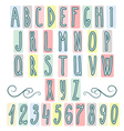 Hand drawn letters alphabet vector image