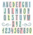 hand drawn letters alphabet