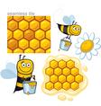 honeybee elements vector image