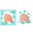 infographic prevention tips washing hands vector image vector image