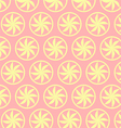 Light Yellow Curve Flower Pattern on Pastel vector image