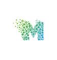 m particle letter logo icon design vector image