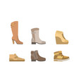 male and female shoes set footwear for autumn or vector image vector image