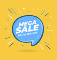 mega sale speech bubble shaped banners vector image vector image