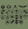 military symbols icons set - army emblems vector image vector image