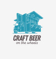 mobile craft beer pop up vehicle for catering and vector image
