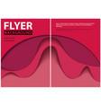 modern flyer paper cut style design vector image vector image