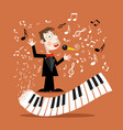 music background with abstract piano keyboard and vector image vector image