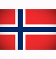 National flag of Norway vector image vector image