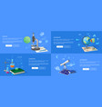 natural sciences course promotional posters set vector image