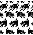 pattern of the black cats vector image vector image
