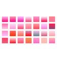 pink color gradients big set background design vector image