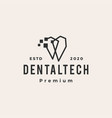 pixel dental digital hipster vintage logo icon vector image vector image