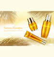 promo banner for summer spf cosmetics vector image