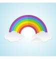 rainbow and clouds in sky vector image