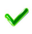 realistic green checkmark icon tick symbol vector image vector image
