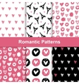 romantic seamless pattern set vector image