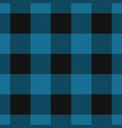 seamless black dark and bright blue tartan vector image vector image