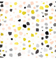 seamless terrazzo pattern background with vector image vector image