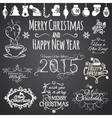 Set of Merry Christmas and Happy New Year design vector image vector image