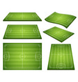 set of soccer green fields vector image