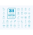 Shopping icons set E-commerce symbols vector image vector image