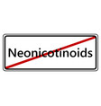 sign for end of neonics vector image vector image