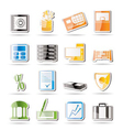 simple business and finance icons vector image vector image
