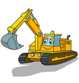 Smiling Excavator vector image vector image
